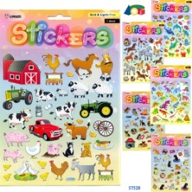 STICKERS ANIMALI ASSORTITI