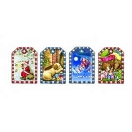 Chiudipacco Natale FANTASIE ASSORTITE conf.100pz