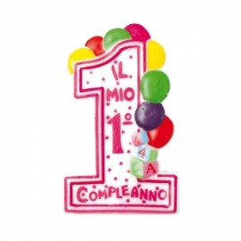 Party CANDELINA 1°COMPLEANNO BIMBA h.10cm