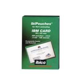 FASCICOLAZIONE- BUSTE POUCHES IBM CARD 59x83 125MY F8  100PZ. 3740426  ***
