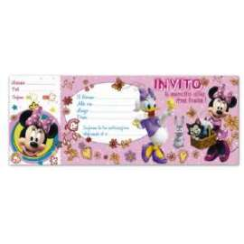 Inviti MINNIE E PAPERINA 20fg