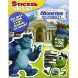 Libri WALT DISNEY - STICKER IN SCENA. MONSTER UNIVERSITY