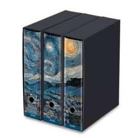 Kaos - SET 3 RACCOGLITORI d.8 - VAN GOH Starry Night  -86920-