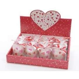 San Valentino CANDELA IN BICCHIERE VETRO