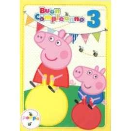 Biglietti Compleanno PEPPA PIG 3 ANNI 12,7x17,8cm conf.6pz