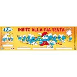 Inviti I PUFFI 12pz