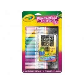Crayola - RICARICA COLOR SPRAY C/STENCIL GIRL