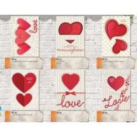 Biglietti San Valentino FANTASIE ASSORTITE conf.12pz
