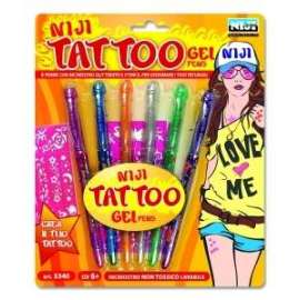 PENNA TATOO GEL BLISTER 6pz