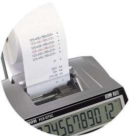 Rotoli per calcolatrici in cellulosa