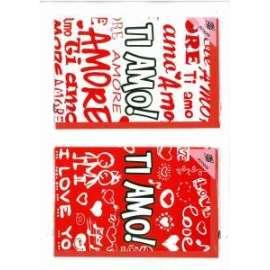 Biglietti San Valentino TI AMO conf.12pz