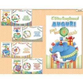 Biglietti Compleanno FANTASIE C/ROTELLA conf.12pz