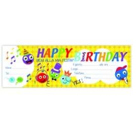 Inviti ASSEGNI HAPPY BIRTHDAY SMILE conf.10pz