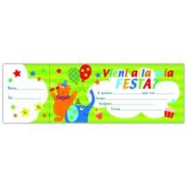 Inviti ASSEGNI FANTASIA CIRCO conf.10pz