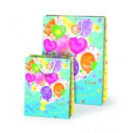 Shopper Carta 20,5x26x10 HAPPINESS conf.10pz