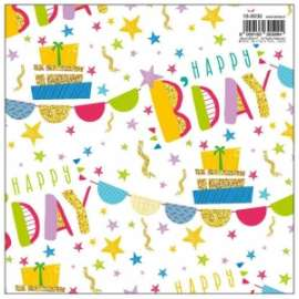 Carta Regalo 70x100 HAPPY B-DAY conf.10fg