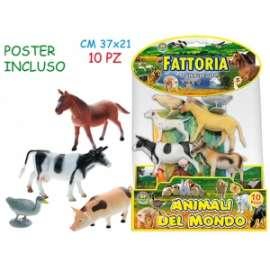 Giochi ANIMALI DELLA FATTORIA conf.10pz