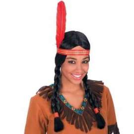 Carnevale PARRUCCA INDIANA C/TRECCE