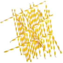 CANNUCCE RIGATE COLOR GIALLO 20cm conf.24pz
