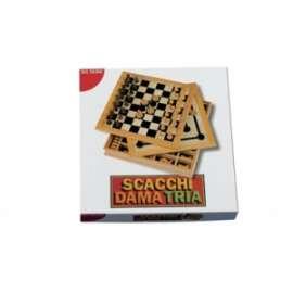 *Giochi di Società SCACCHI/DAMA/TRIA 30cm