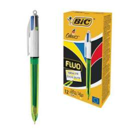 Penna a sfera 4 Colours Fluo