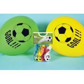 Party PALLONCINI GOAL STAMPATI COLORI ASSORTITI 10pz