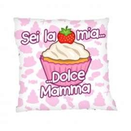 Festa della Mamma CUSCINO SEI LA MIA DOLCE MAMMA 35x35cm
