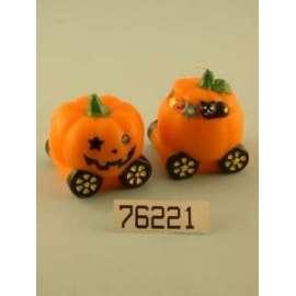 *OFFERTA Halloween CANDELA ZUCCA C/RUOTE diam.7cm