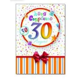 Biglietti Compleanno 30 ANNI conf.6pz