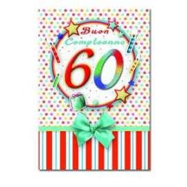 Biglietti Compleanno 60 ANNI conf.6pz
