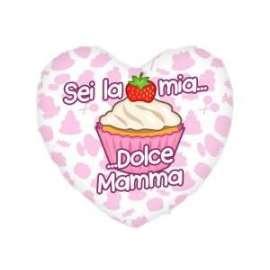 Festa della Mamma CUSCINO CUORE SEI LA MIA DOLCE.. 40x35cm