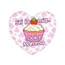 Festa della Mamma CUSCINO CUORE SEI LA MIA DOLCE.. 25x21cm