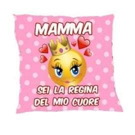 Festa della Mamma CUSCINO MAMMA SEI LA REGINA 35x35cm