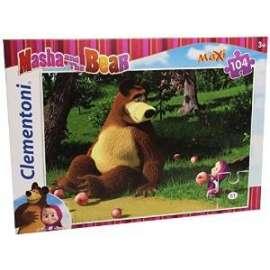 Giochi PUZZLE - 104 MAXI - MASHA AND THE BEAR