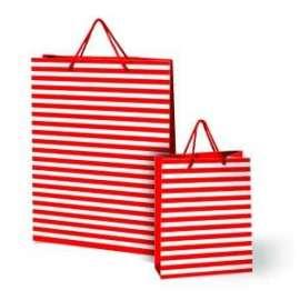 Shopper Carta 26x22x10 RIGATO ROSSO conf.10pz
