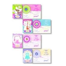 Biglietti Compleanno FANTASIA GIRLS C/ROTELLA conf.12pz