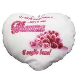 Festa della Mamma CUSCINO CUORE C/SCRITTA 40x35cm