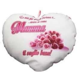 Festa della Mamma CUSCINO CUORE C/SCRITTA 25x21cm