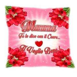 Festa della Mamma CUSCINO C/SCRITTA 30x30cm