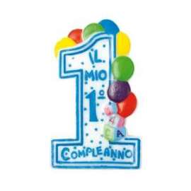 Party CANDELINA 1°COMPLEANNO BIMBO h.10cm