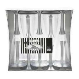 Party FLUTES ARGENTO SATINATO conf.10pz