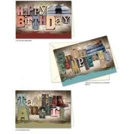 Biglietti Compleanno FANTASIA MASCHILE conf.12pz