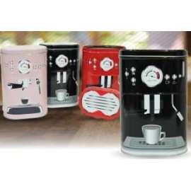 Scatola IN METALLO MACCHINA DEL CAFFè 2pz
