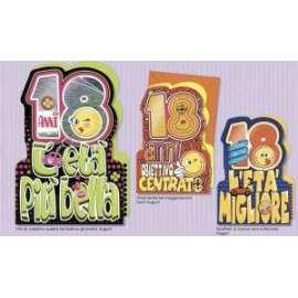 Biglietti Compleanno SMILE 18 ANNI conf.12pz