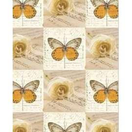 Carta Regalo 70x100cm FARFALLE E ROSE conf.12pz