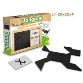 TANGRAM IN LEGNO C/FIGURE