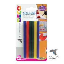 COLLA A CALDO COLORATA 10cm conf.12stick