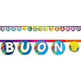 Party FESTONE BUON COMPLEANNO BOOM 3,40mt