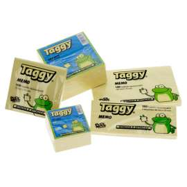 Blocco fogli adesivi Taggy giallo
