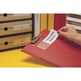 Porta etichette autoadesivi
